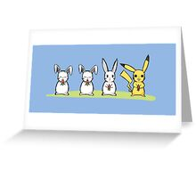 Pika Rabbit Greeting Card