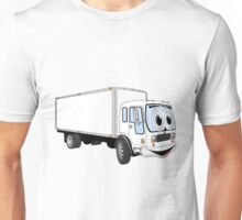 Large White Delivery Truck Cartoon Unisex T-Shirt