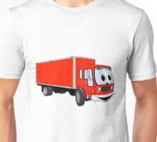 Large Red Delivery Truck Cartoon Unisex T-Shirt