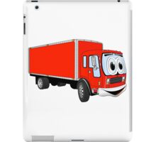 Large Red Delivery Truck Cartoon iPad Case/Skin