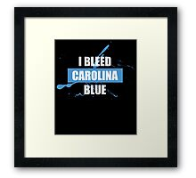 I BLEED CAROLINA BLUE Framed Print