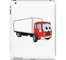 Large Red White Delivery Truck Cartoon iPad Case/Skin