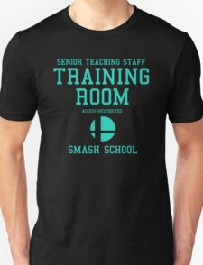 Smash School Training Room (Cyan) T-Shirt