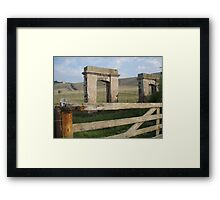 some ruins at Stanley, Tasmania Framed Print