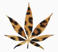 Leopard Print Cannabis Leaf by HighlyAnimated