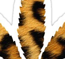 Leopard Print Cannabis Leaf Sticker