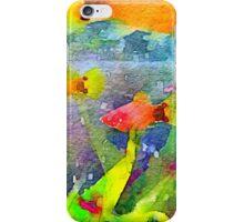 Abstract Goldfish Aquarium Watercolor 1 iPhone Case/Skin