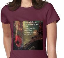 LA VIE EN ROSE Womens Fitted T-Shirt