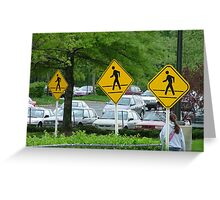 Safe Crossing Greeting Card
