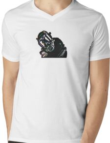 Military Man Mens V-Neck T-Shirt