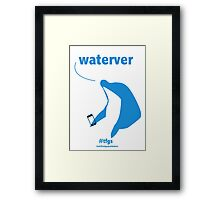 Haruka || waterver Framed Print