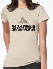 Date A Runner Womens Fitted T-Shirt