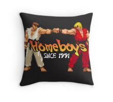 Ken, Ryu-Homeboys Throw Pillow