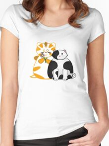 Frazzle and Basil Teamwork Tee Women's Fitted Scoop T-Shirt