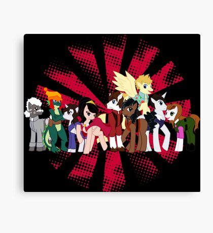 Big Damn Ponies Canvas Print
