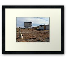 Drive In Bring Memories, No Films Shown Framed Print