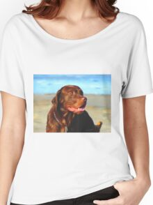 Bosco at the Beach Women's Relaxed Fit T-Shirt