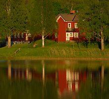 Lake House on Lake Udden- Udden Reflections 3 by Tim Fenton