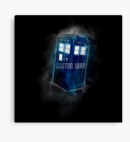 Doctor Who - DARK COLORS - Canvas Print