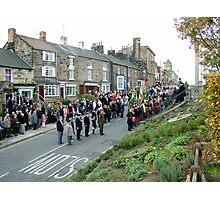 Rememberance Day,  Loftus, England Photographic Print