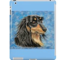 Marcus - Long Haired Black and Tan Dachshund  iPad Case/Skin