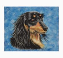 Marcus - Long Haired Black and Tan Dachshund  Kids Clothes