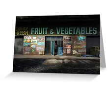 fruit and vegetables, country Australia Greeting Card