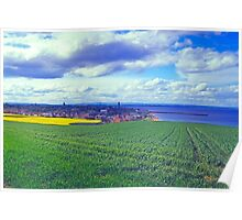 Clouds over St. Andrews by the Sea Poster