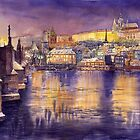 Magic Prague in Watercolour by shevchukart by Yuriy Shevchuk