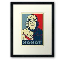 Sagat, Street Fighter Framed Print