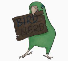 Bird Nerd (Green) Kids Tee