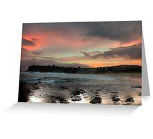 Shadows & LIght - Sydney Beaches - Avalon Beach - The HDR Series - Sydney Australia Greeting Card