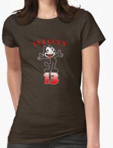 Felix the cat Unlucky 13 Womens Fitted T-Shirt