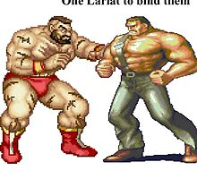 Zangief and Haggar, powerbombs and lariats by endgameendeavor