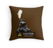 Dhalsim-contents hot! Throw Pillow