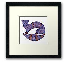 purple furry fuzzy ferret Framed Print