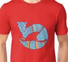 Turquoise Fuzzy Ferret Unisex T-Shirt