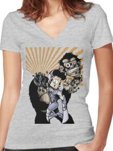 The Pen Punch! Women's Fitted V-Neck T-Shirt
