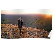 On top of Mt Oxley Poster