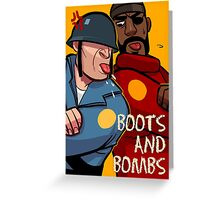 Team Fortress 2 / Boots n Bombs Greeting Card