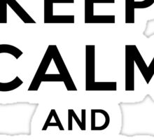 Keep Calm and Snowboard On Sticker