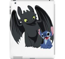 Stitch and Toothless iPad Case/Skin