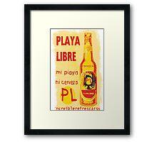 Cerveza Framed Print