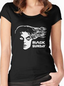 Black Sunday Women's Fitted Scoop T-Shirt