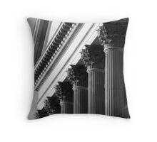 Customs House Columns No. 2 Throw Pillow