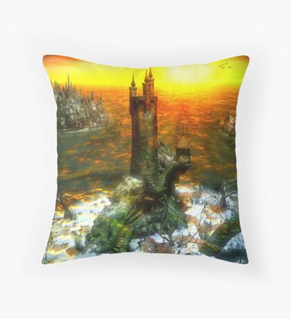 The Wizard's Lair Throw Pillow
