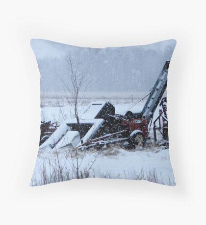 Rural Snow Throw Pillow