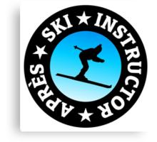 Après-Ski Instructor Skier Canvas Print