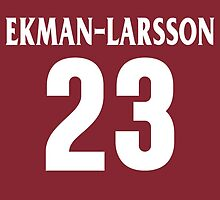 Arizona Coyotes Oliver Ekman-Larsson Jersey Back Phone Case by Russ Jericho