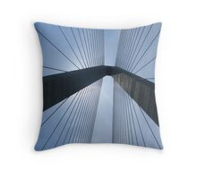 New Cooper River Bridge No. 1 Throw Pillow